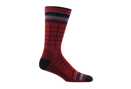 Portland Box Plaid Lightweight Crew Socks