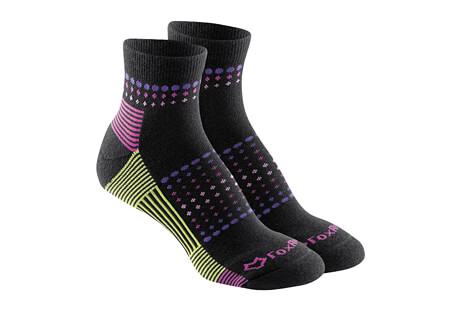 Ombre Sunrise Med Weight Qtr Crew Socks - Women's