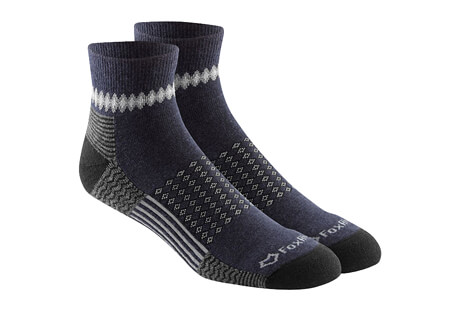 Carbon Lightweight Qtr Crew Socks