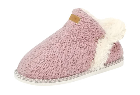 Textured Knit Ankle Slipper Boots - Women's