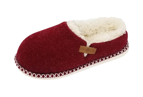 Faux Wool Felted Clog Slippers - Women's