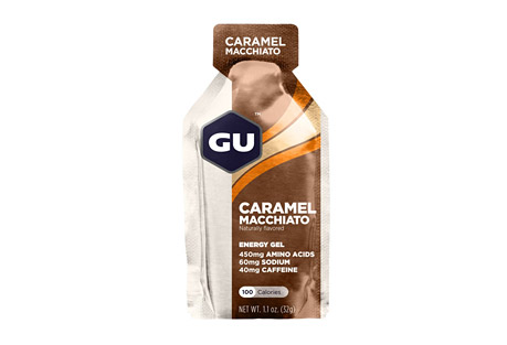 GU Caramel Macchiato Energy Gel w/Caffeine - Box of 24
