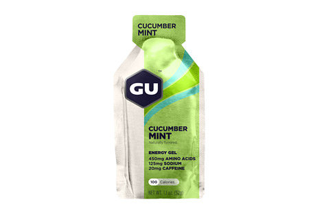 GU Cucumber Mint Energy Gel w/Caffeine - Box of 24