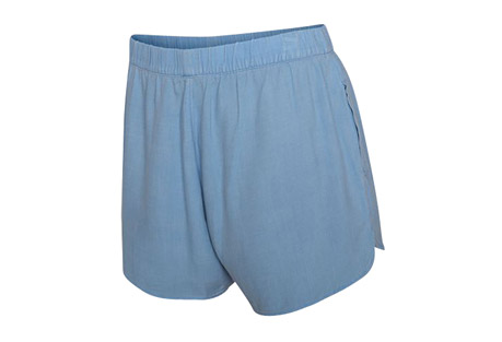 High Waisted Woven Beachrider Shorts - Women's