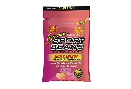 Sport Beans Extreme Assorted Smoothie w/Caffeine Energizing Jelly Beans - Box of 24