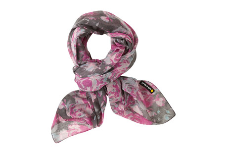 Square Wallpaper Floral Scarf - Women's