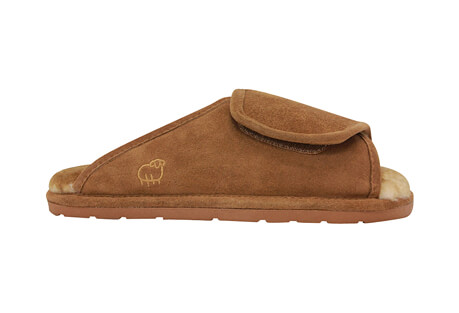 Sheepskin Wrap Slippers - Men's