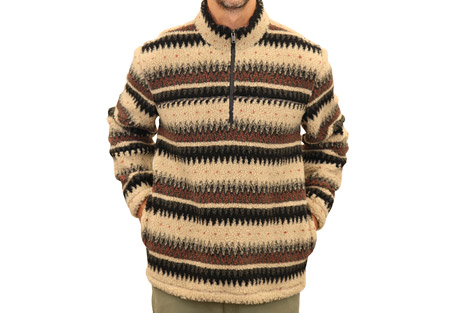 1/4 Zip Grizzly Sherpa Pullover - Men's