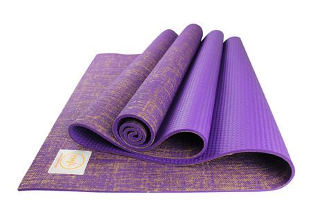 "Premium Eco Jute Yoga Mat 24"" x 68"" x 4.5mm"