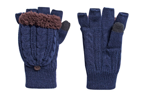 Cable Flip Mittens