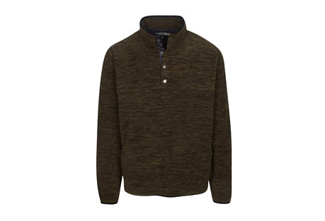 Long Sleeve Space Dyed Micro Fleece Pullover - Men's