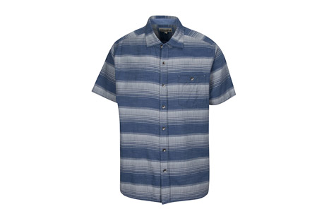S/S Chambray Horizontal Stripe with Faded Wash - Men's