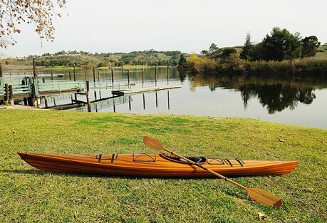 Sit Inside Single Person Wooden Kayak 17'