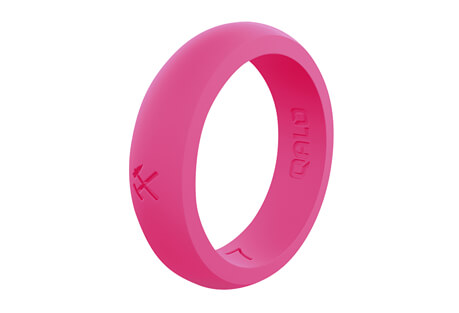 Quality Pink Silicone Ring - Women's