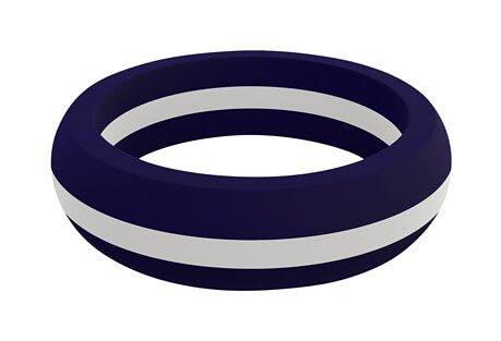 White Line Silicone Ring - Women's