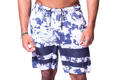 Stretch Knit Urban Camo Shorts - Men's