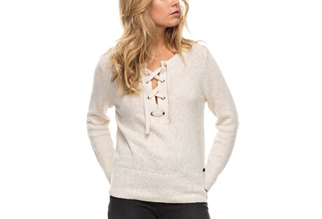 My Little Bliss Lace Up Sweater - Women's