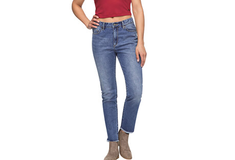 Lost My Head High-Waist Straight Fit Jeans - Women's