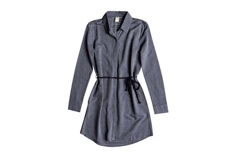 Crazy Whisper Long Sleeve Shirt Dress - Women's