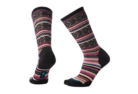 Ethno Graphic Crew Socks - Women's