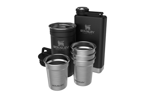 The Pre-Party Shot Glass + Flask Set