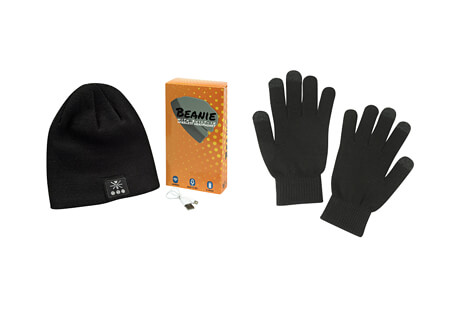 Warriors & Scholars Wireless Bluetooth Beanie With Built-in Headphones & Touch Screen Gloves