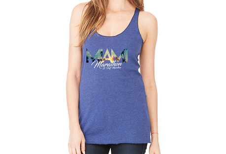 'Relax' Racerback Relaxed Raw-Edge Tri-Blend Tank - Women's